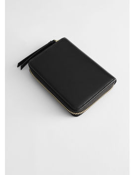 Smooth Leather Zip Wallet by & Other Stories