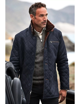 Hayes Quilted Spanish Shearling Sheepskin Car Coat by Overland