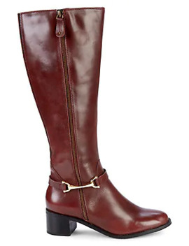 Waffy Leather Buckle Tall Boots by Carvela Comfort