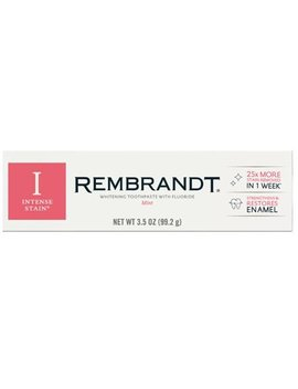 Rembrandt Intense Stain Whitening Toothpaste With Fluoride, Mint Flavor   3.5 Oz by Rembrandt