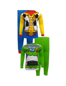 Toy Story Buzz Lightyear And Woody Cotton Toddler Pajamas by Toy Story