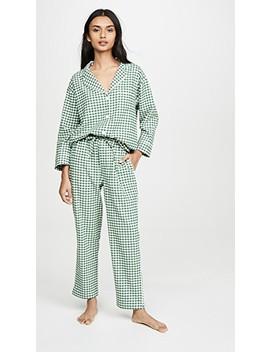 Пижама из фланели в крупную клетку гингем by Sleepy Jones