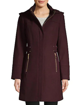 Hooded Wool Blend Coat by Vince Camuto