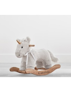 Faux Fur Unicorn Plush Nursery Rocker by Pottery Barn Kids