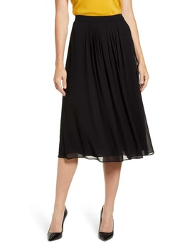 Pleated A Line Skirt by Anne Klein