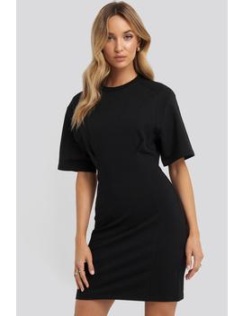 Waist Dart Detail Dress Czarny by Na Kd