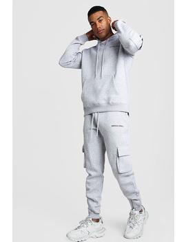 Man Ma1 Utility Hooded Tracksuit With Zip Detail by Boohoo