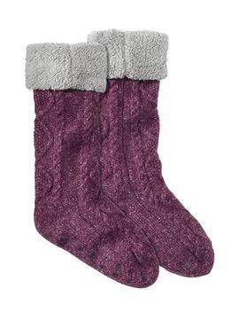 Women's Fireside Gripper Socks by L.L.Bean
