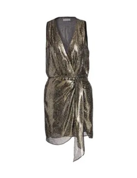Gabriela Metallic Silk Dress by Ramy Brook