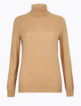 Pure Cashmere Roll Neck Jumper by Standard Delivery: