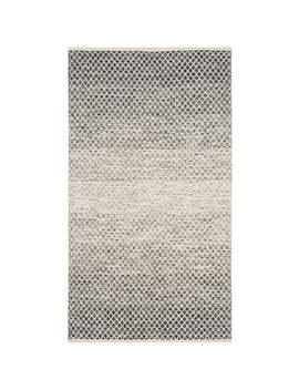 Safavieh Handmade Flatweave Montauk Geert Casual Cotton Rug   3' X 5'   Black/Ivory by Safavieh
