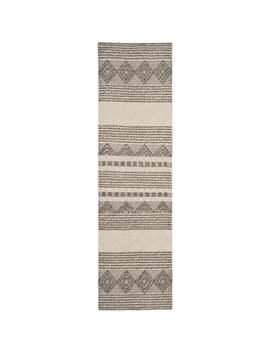 """Safavieh Handmade Natura Annedorte Wool Rug   2'3"""" X 6' Runner   Grey/Ivory by Safavieh"""