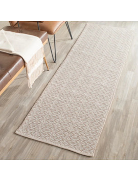 "Safavieh Handmade Flatweave Montauk Everly Casual Cotton Rug   2'3"" X 3'9""   Ivory/Beige by Safavieh"