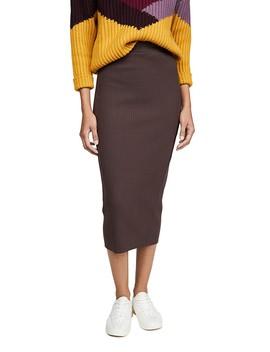 Heavy Rib Midi Skirt by Stateside