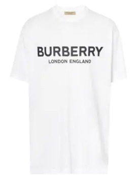 Logo Print Short Sleeve Tee by Burberry
