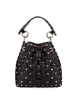 Rockstud Spike Quilted Bucket Bag by Valentino Garavani