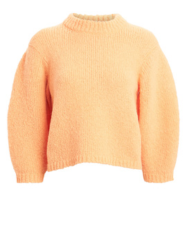 Cozette Cropped Alpaca & Wool Sweater by Tibi