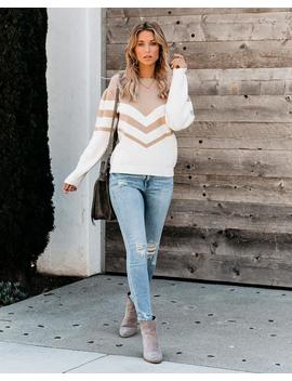Live And Learn Chevron Sweater by Vici