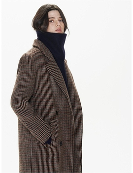 (Priority Shipping) Check Double Long Coat by The Suin