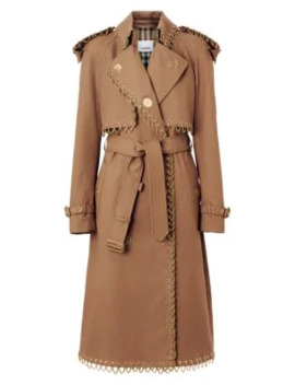 Chain Trim Trench Coat by Burberry