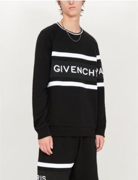 Logo Embossed Cotton Jersey Sweatshirt by Givenchy