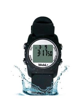 Smallest Vibrating Waterproof Reminder Watch (Black) by Wob L