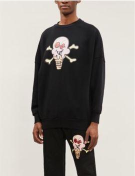 Palm Angels X Icecream Graphic Print Cotton Jersey Sweatshirt by Palm Angels