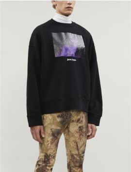 Night Vision Graphic Print Cotton Jersey Sweatshirt by Palm Angels