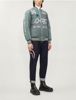 Motorsport Logo Embroidered Bomber Jacket by A Bathing Ape