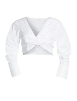 Elise Cotton Poplin Crop Top by A.L.C.