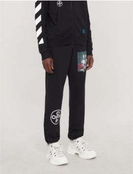 Mariana Branded Cotton Jersey Jogging Bottoms by Off White C/O Virgil Abloh