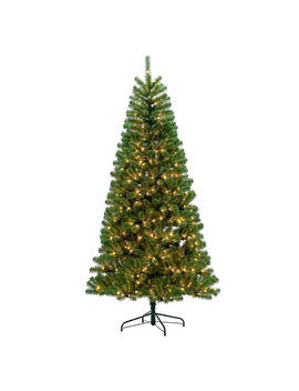 C14 7.5' Pre Lit Wallace Noble Fir Tree With 500 Clear Lights C14 7.5' Pre Lit Wallace Noble Fir Tree With 500 Clear Lights by At Home