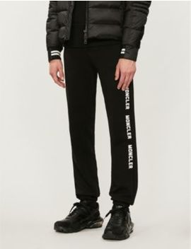 Logo Embroidered Cotton Jersey Jogging Bottoms by Moncler