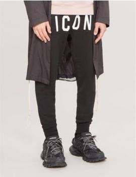 Icon Logo Print Cotton Jersey Jogging Bottoms by Dsquared2
