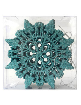 6 Ct. Blue Snowflake Ornament6 Ct. Blue Snowflake Ornament by At Home