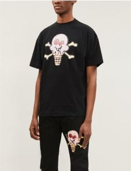 Palm Angels X Icecream Graphic Print Cotton Jersey T Shirt by Palm Angels