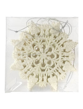 6 Ct. White Snowflake Ornament6 Ct. White Snowflake Ornament by At Home