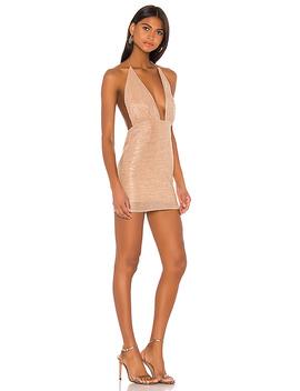 X Draya Michele Torrance Mini Dress In Rose Gold by Superdown