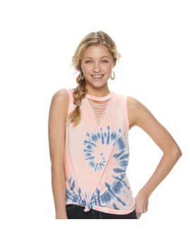 Juniors' So® Macrame Knot Front Tank by Juniors' So