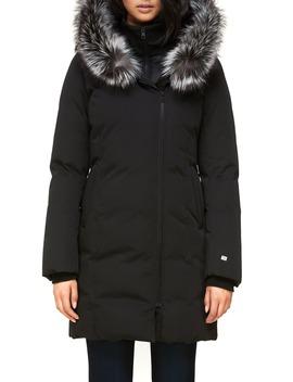 Salma Inset Bib 700 Fill Power Down Coat With Genuine Fox Fur Trim by Soia & Kyo