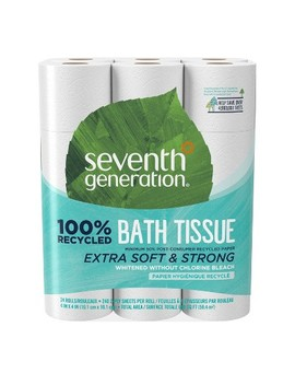 Seventh Generation 100% Recycled Toilet Paper   24 Rolls by Seventh Generation