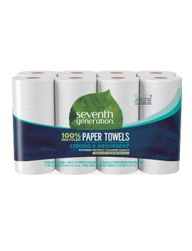 Seventh Generation 100% Recycled Paper Towels   8 Rolls by Seventh Generation