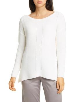 Bateau Neck Merino Wool Sweater by Eileen Fisher