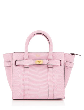 Micro Bayswater Pink Embossed Shopper by Mulberry