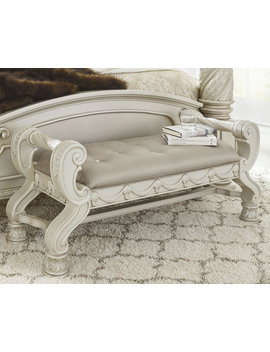 Signature Design By Ashley Cassimore Silver Upholstered Bench by Signature Design By Ashley
