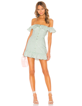Lilith Mini Dress In Sage Green by Lovers + Friends