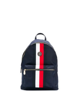 Signature Stripe Panel Backpack by Tommy Hilfiger