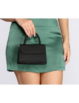 Mini Matte Snake Textured Purse by Windsor