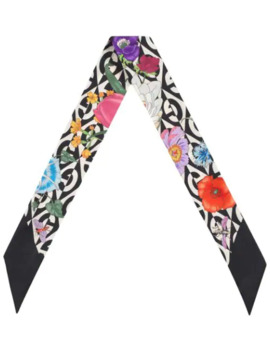 Flora And G Rhombus Print Neck Bow by Gucci