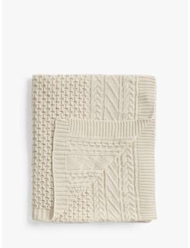 John Lewis & Partners Organic Cotton Throw, Natural by John Lewis & Partners